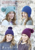 Hayfield Chunky with Wool - 7380 Hats Knitting Pattern